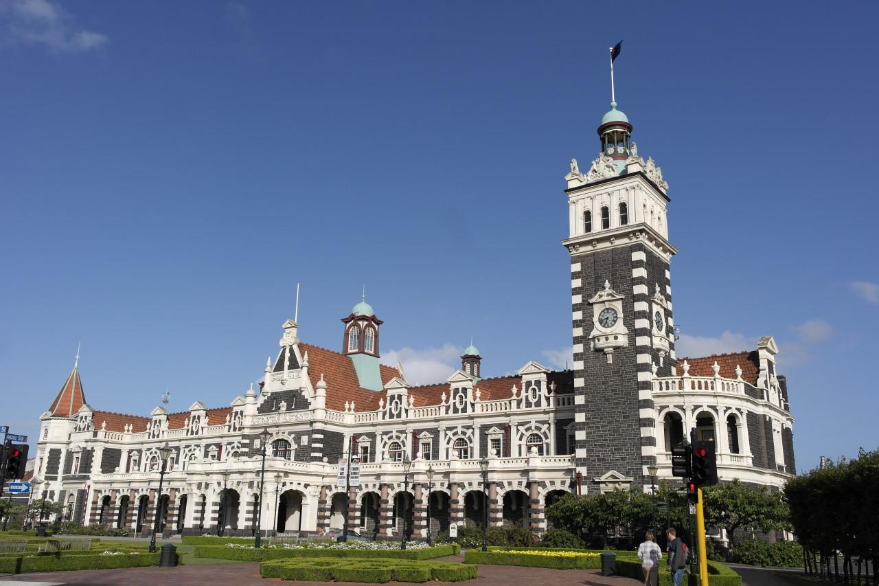 Der Bahnhof von Dunedin, soll das schönste Gebäude in der Stadt sein