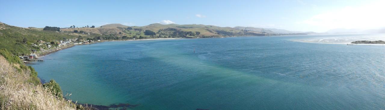 Ein Dörfchen am Otago Harbour auf dem Rückweg