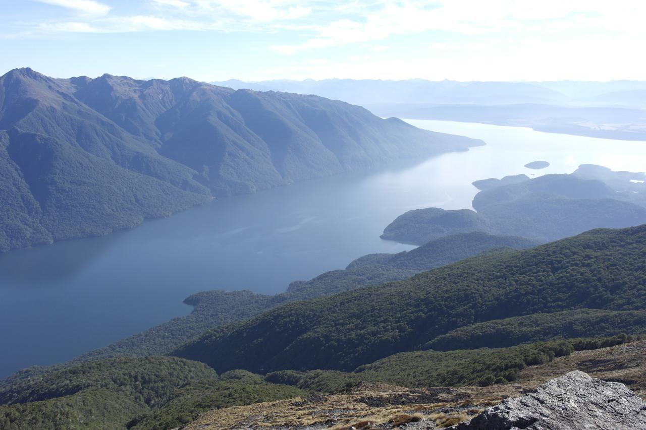 Beste und letzte Sicht auf den Lake Te Anau.
