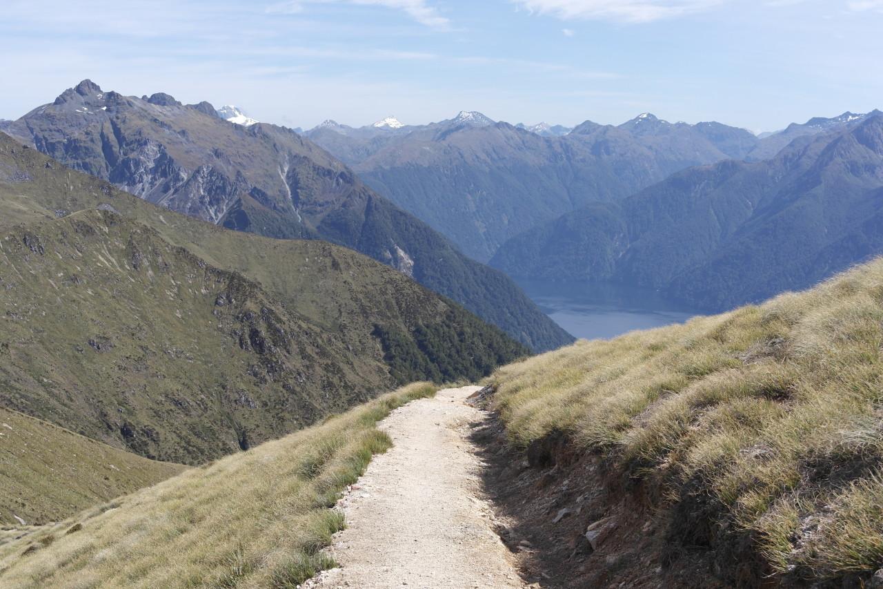 012 Kepler Track Day 2 Alpine Section View Back Lake Te Anau