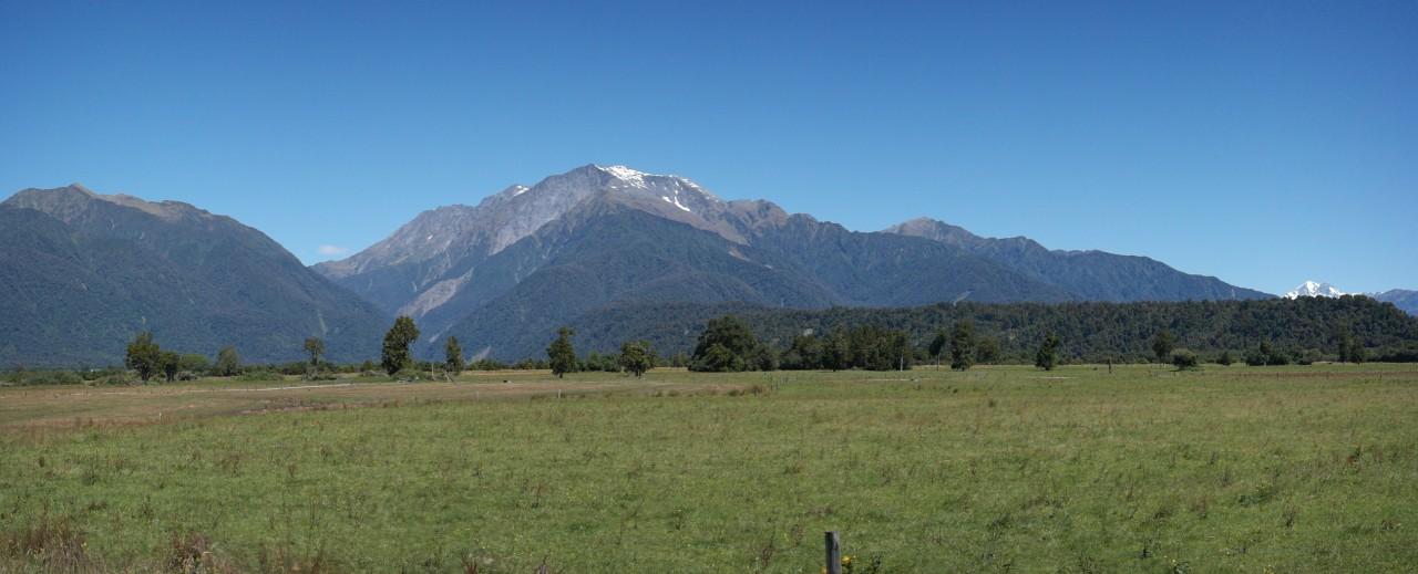 Mount Cook schummelt sich mit ins Bild.