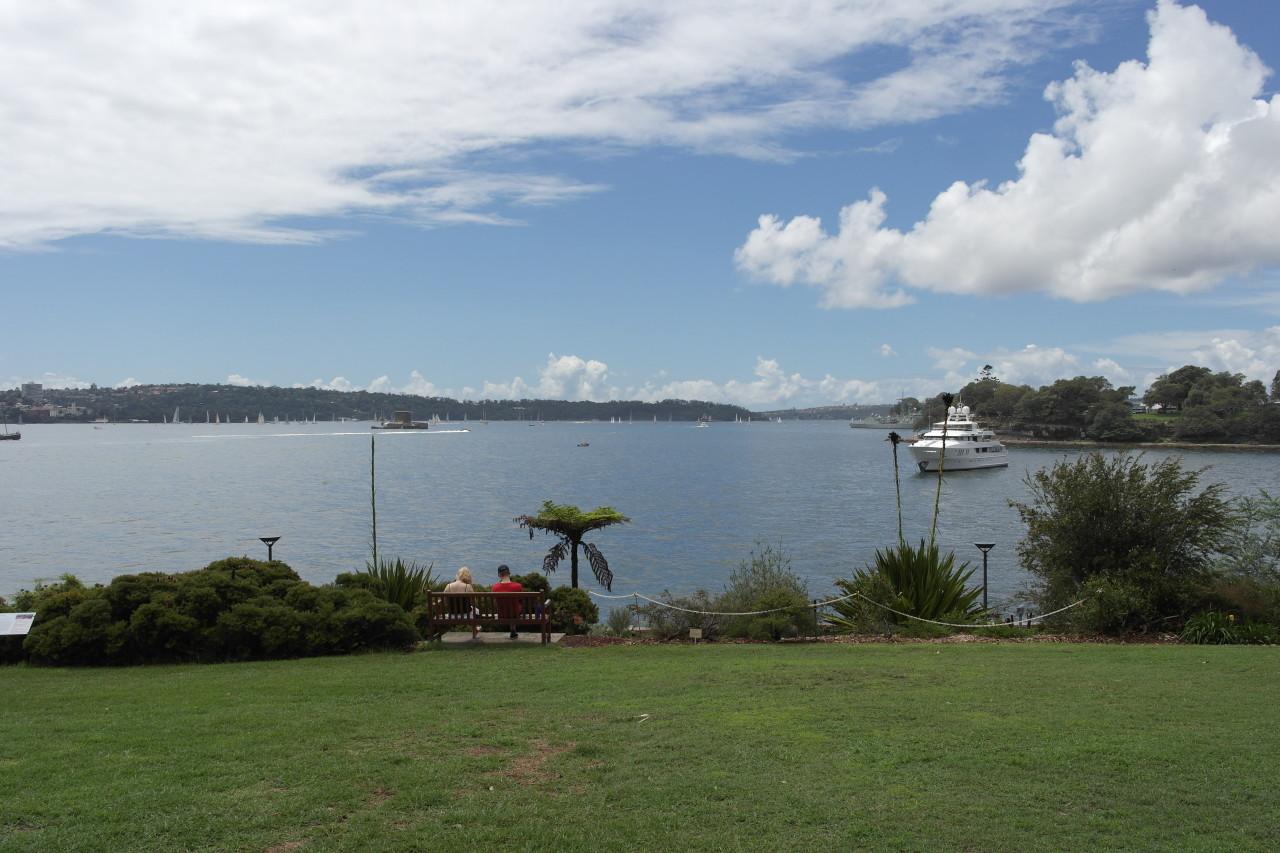 Die Botanical Gardens liegen direkt am Hafen.