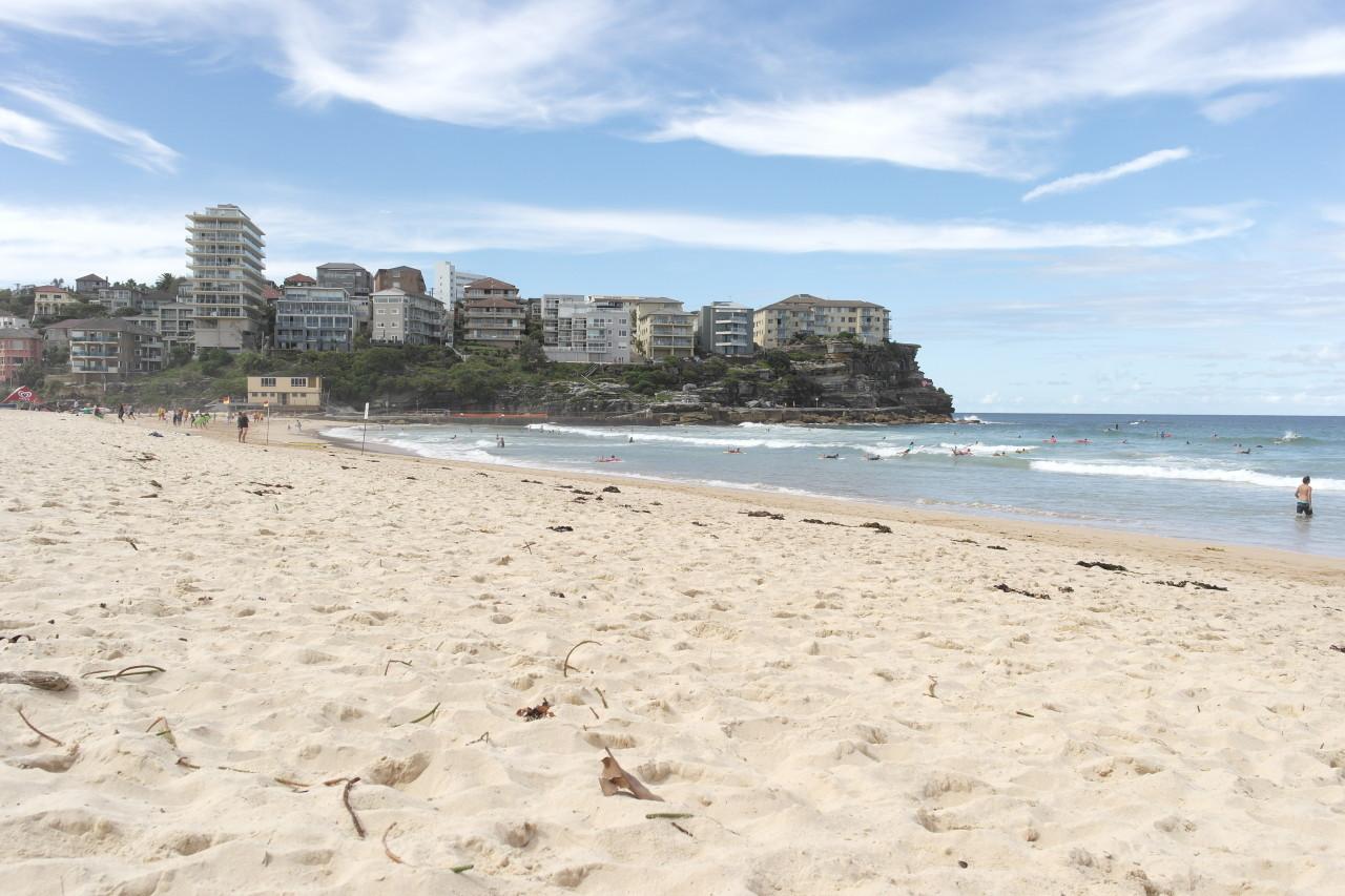 Das ist Manly Beach, der zweitbeliebteste Strand in Sydney (nach Bondi Beach). Mir persönlich hat er aber nicht so zugesagt. Da war der Freshwater Beach (ein Strand weiter nördlich) um einiges hübscher.