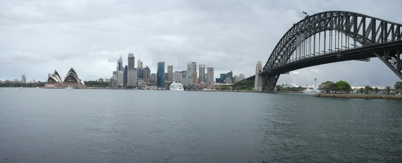 025 Sydney Harbour Bridge And City, Opera House Pano From Other Side