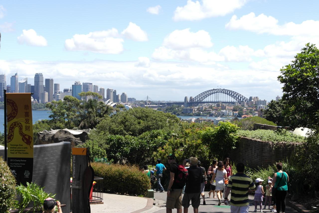 Eine schöne Sicht auf die Stadt hat man!
