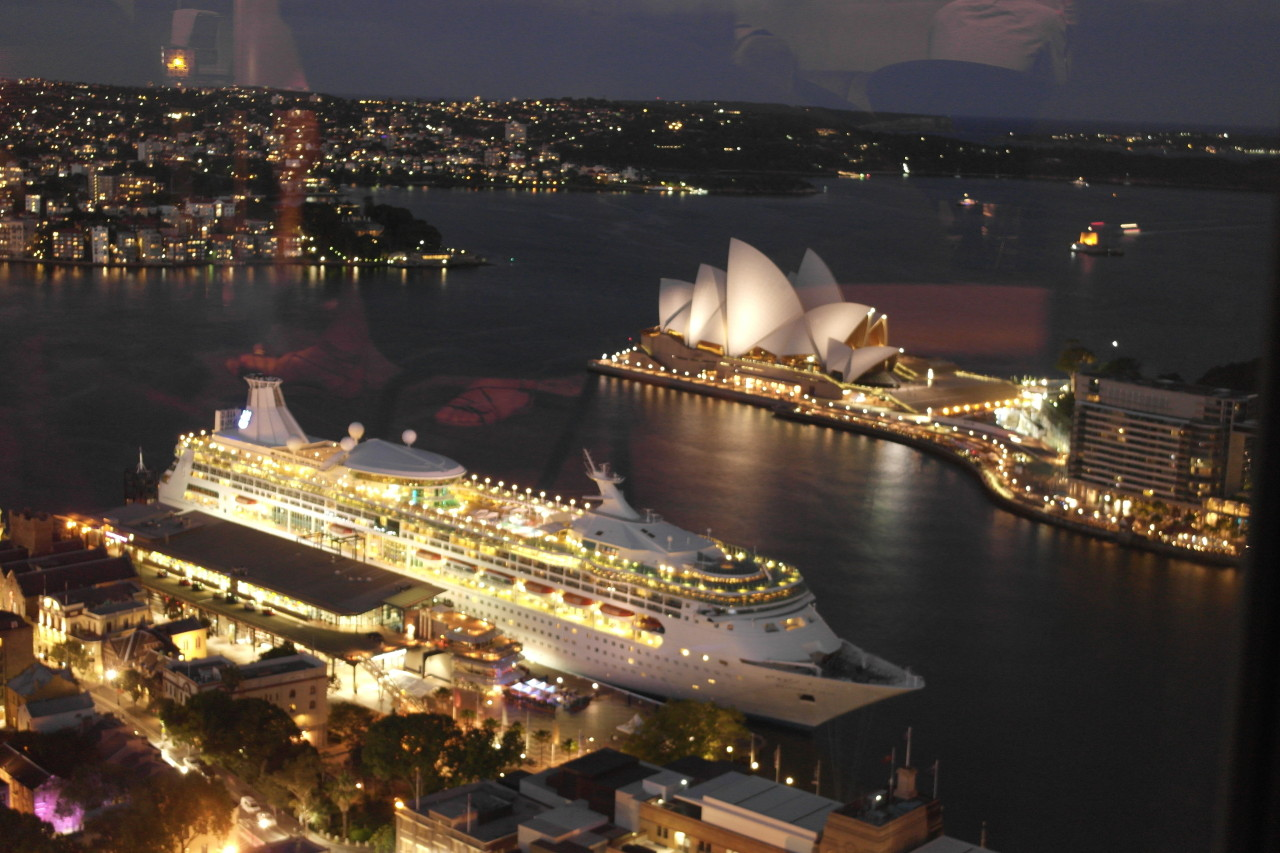 025 Sydney Harbour, Opera House, Cruise Ship At Night