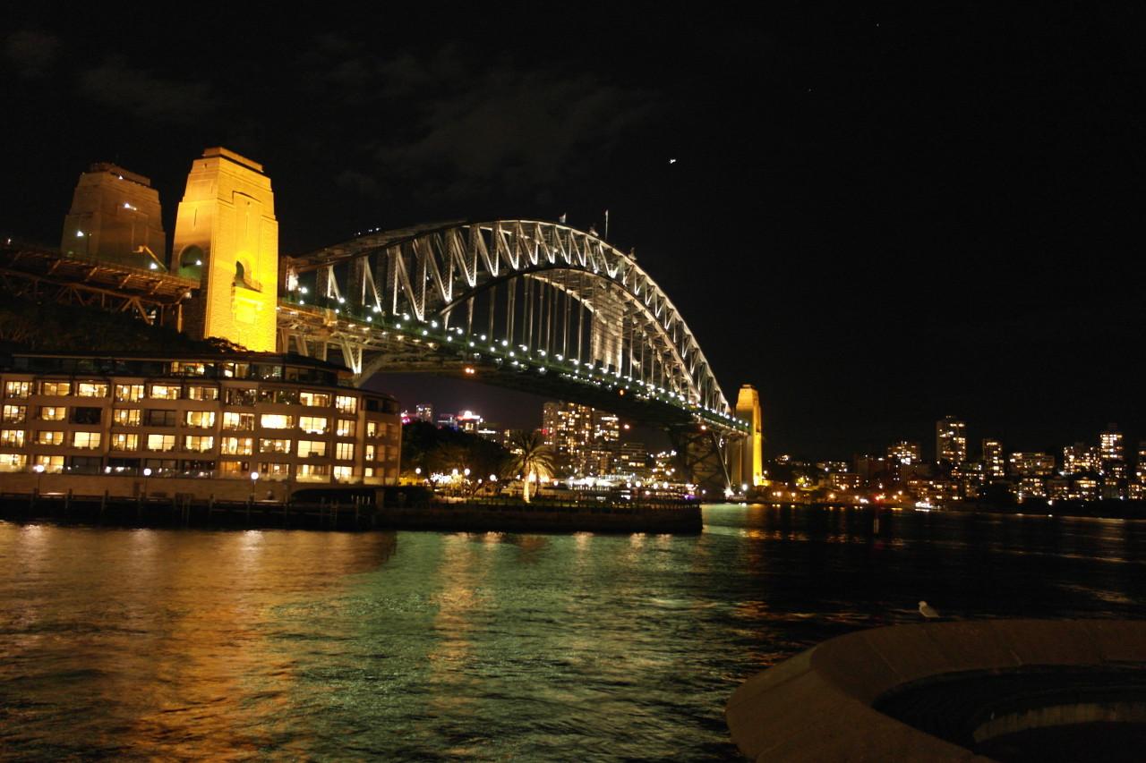 ...genau wie die Harbour Bridge.